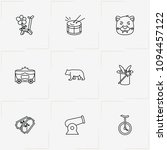 circus line icon set with one... | Shutterstock .eps vector #1094457122