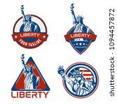 usa liberty logo emblem 4 july | Shutterstock .eps vector #1094457872