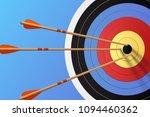 arrows in the target  vector...   Shutterstock .eps vector #1094460362