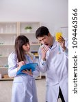 two doctors discussing plasma... | Shutterstock . vector #1094463566
