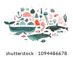 hand drawn vector abstract... | Shutterstock .eps vector #1094486678