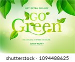 go green word on natural green... | Shutterstock .eps vector #1094488625