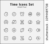 thin line icons set of time ...