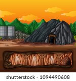 a mine and underground scene... | Shutterstock .eps vector #1094490608
