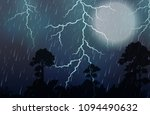 a thunderstorm and rain night... | Shutterstock .eps vector #1094490632