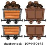 a cart full of coal illustration | Shutterstock .eps vector #1094490695