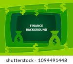 finance 3d abstract green... | Shutterstock .eps vector #1094491448