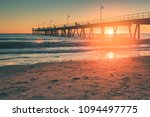 glenelg beach with jetty on... | Shutterstock . vector #1094497775