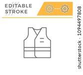 working vest line icon | Shutterstock .eps vector #1094497808