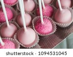 platter of cake pops with pink...   Shutterstock . vector #1094531045