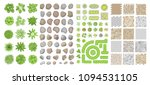set of park elements.  top view ...   Shutterstock .eps vector #1094531105