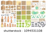 vector set. green farm.  top... | Shutterstock .eps vector #1094531108