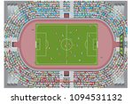 football stadium top view.... | Shutterstock .eps vector #1094531132
