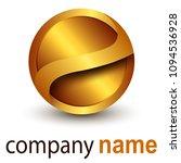 logo business 3d gold sphere ... | Shutterstock .eps vector #1094536928