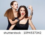 glam girls getting beauty... | Shutterstock . vector #1094537342
