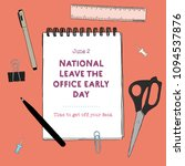 national leave the office early ... | Shutterstock .eps vector #1094537876