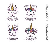 cat unicorn hand drawn nursery... | Shutterstock .eps vector #1094547428