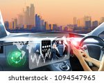 vehicle running self driving... | Shutterstock . vector #1094547965