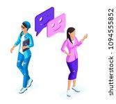 isometrics young girls...   Shutterstock .eps vector #1094555852