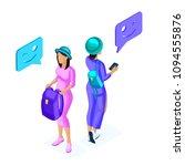 isometry of young girls ...   Shutterstock .eps vector #1094555876