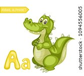 animal alphabet. a is for... | Shutterstock .eps vector #1094556005