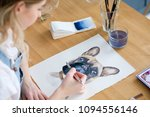art painting. inspiration and... | Shutterstock . vector #1094556146