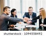 teamwork cooperation unity.... | Shutterstock . vector #1094558492