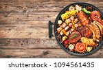 assorted delicious grilled meat ... | Shutterstock . vector #1094561435