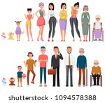character of a woman and man in ... | Shutterstock .eps vector #1094578388