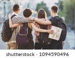 friends traveling  togetherness ...   Shutterstock . vector #1094590496