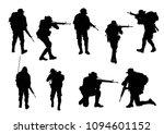 soldier vector black style. | Shutterstock .eps vector #1094601152