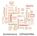 colorful   word collage for...   Shutterstock . vector #1094604986