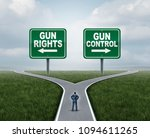 gun control or guns control and ... | Shutterstock . vector #1094611265