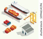 isometric cargo logistics and... | Shutterstock .eps vector #1094614196