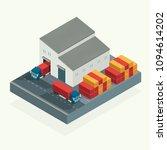 isometric  cargo logistics... | Shutterstock .eps vector #1094614202