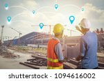 investment of industry concept  ... | Shutterstock . vector #1094616002