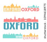 oxford england flat icon... | Shutterstock .eps vector #1094618975