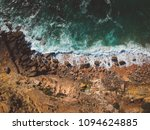 aerial view of ocean waves and... | Shutterstock . vector #1094624885