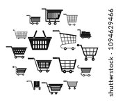 shopping cart icons set. simple ... | Shutterstock .eps vector #1094629466