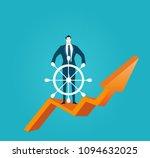 businessman controlling... | Shutterstock .eps vector #1094632025
