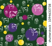 seamless pattern with images of ... | Shutterstock .eps vector #1094633738