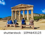 tourists at doric temple in... | Shutterstock . vector #1094643125