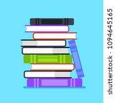 pile stuck of books icon.... | Shutterstock .eps vector #1094645165