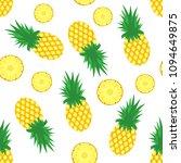 Pineapple Background. Fresh...