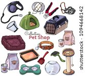 collection of vector isolated...   Shutterstock .eps vector #1094668142