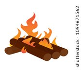 abtract nature campfire | Shutterstock .eps vector #1094671562