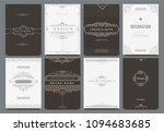 monogram creative cards... | Shutterstock .eps vector #1094683685