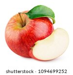 ripe red apple fruit with apple ... | Shutterstock . vector #1094699252