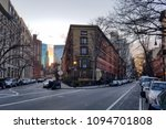 new york city streets at dusk... | Shutterstock . vector #1094701808