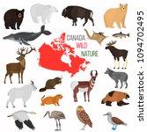 wild animals of canada color... | Shutterstock .eps vector #1094702495